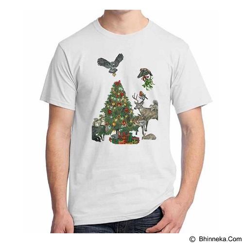 ORDINAL T-shirt Christmas Aminal Size M (Merchant) - Kaos Pria