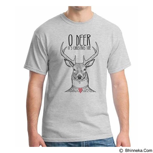 ORDINAL T-shirt Christmas Deer 04 Size XL (Merchant) - Kaos Pria