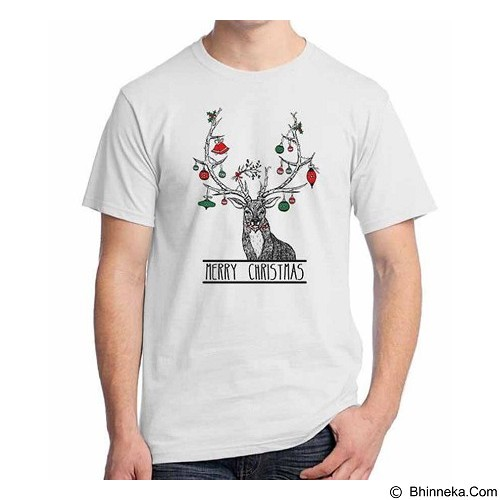 ORDINAL T-shirt Christmas Deer 05 Size S (Merchant) - Kaos Pria