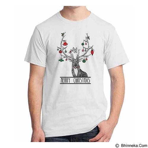 ORDINAL T-shirt Christmas Deer 05 Size S (Merchant) - Kaos Pria