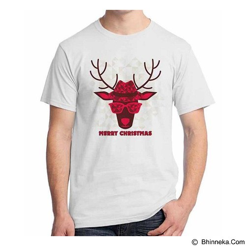 ORDINAL T-shirt Christmas Deer 08 Size L (Merchant) - Kaos Pria