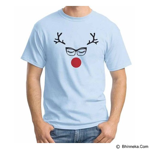 ORDINAL T-shirt Christmas Lady Deer Size L (Merchant) - Kaos Pria