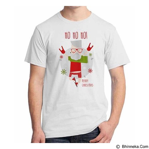 ORDINAL T-shirt Christmas - New Santa 17 Size S (Merchant) - Kaos Pria