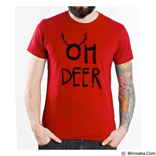 ORDINAL T-shirt Christmas - Oh Deer Size XL (Merchant) - Kaos Pria