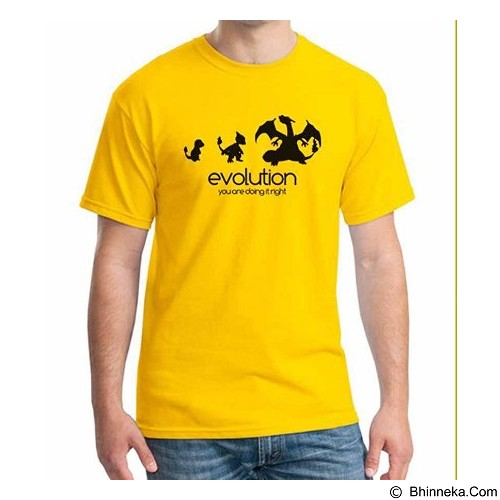 ORDINAL T-shirt Digimon Evolution Size S (Merchant) - Kaos Pria