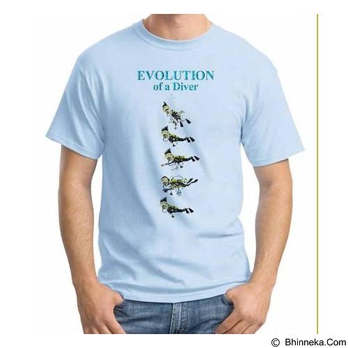 ORDINAL T-shirt Evolution Of Diver Size XXL (Merchant) - Kaos Pria