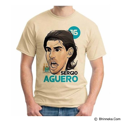 ORDINAL T-shirt Football Player Aguero Size L (Merchant) - Kaos Pria