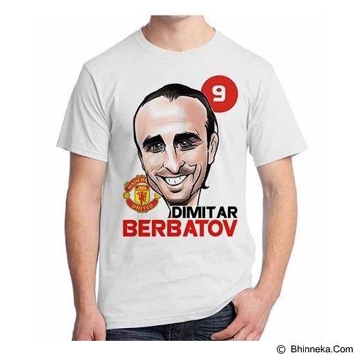 ORDINAL T-shirt Football Player Berbatov Size M (Merchant) - Kaos Pria