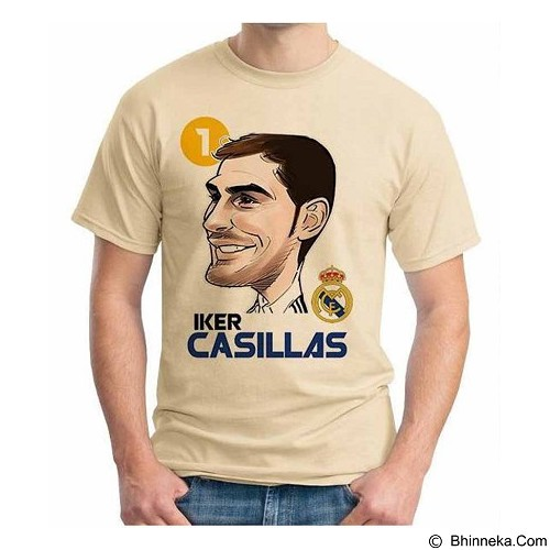 ORDINAL T-shirt Football Player Casillas Size M (Merchant) - Kaos Pria