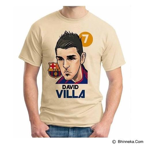 ORDINAL T-shirt Football Player David Villa Size L (Merchant) - Kaos Pria