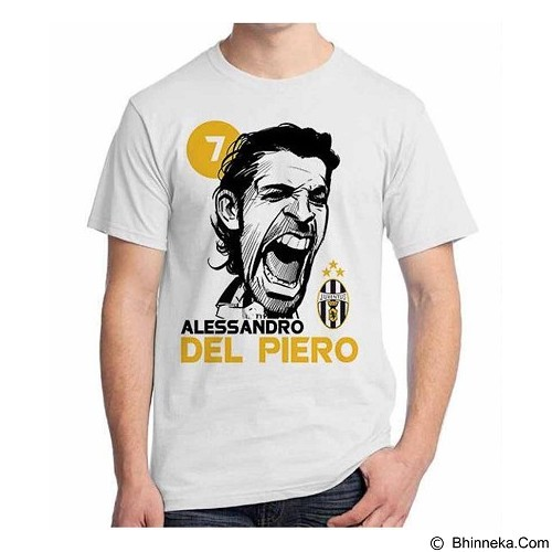 ORDINAL T-shirt Football Player Del Piero Size ML (Merchant) - Kaos Pria