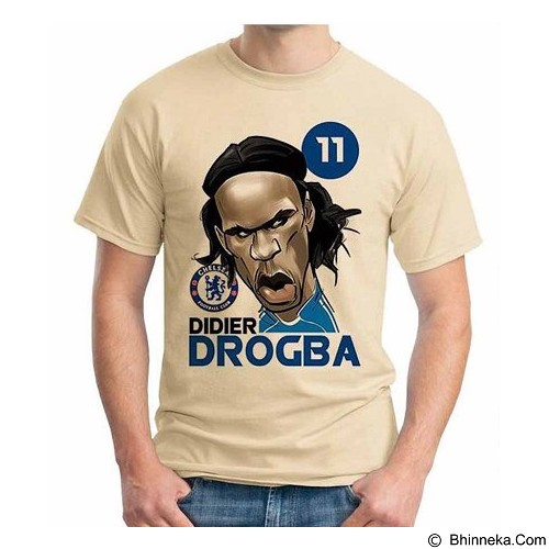 ORDINAL T-shirt  Football Player Drogba Size S (Merchant) - Kaos Pria