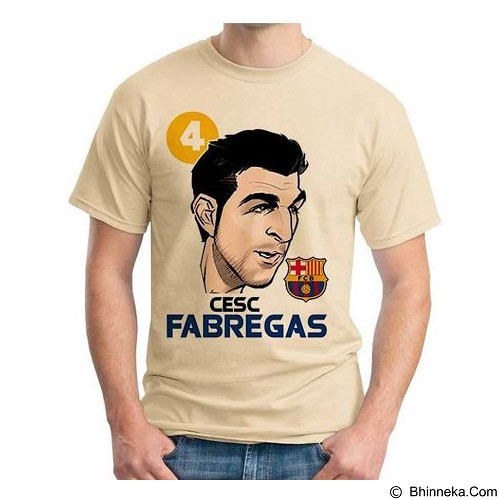 ORDINAL T-shirt Football Player Fabregas 02 Size L (Merchant) - Kaos Pria