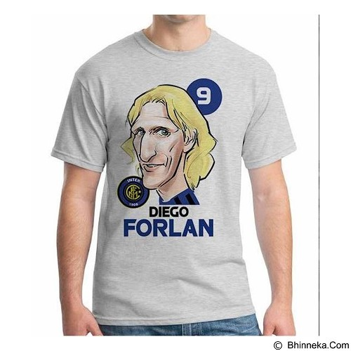 ORDINAL T-shirt Football Player Forlan Size L (Merchant) - Kaos Pria