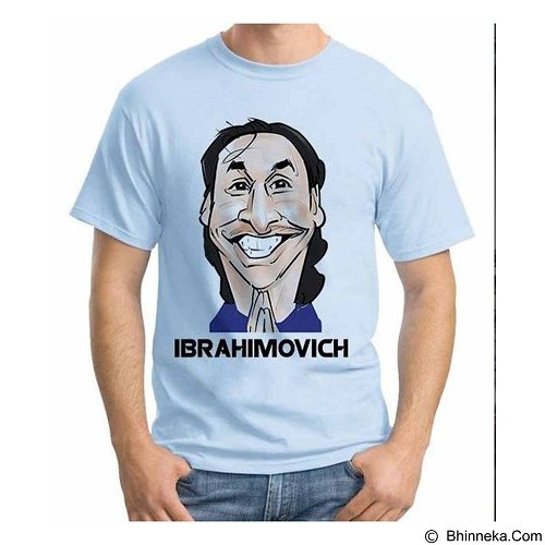 ORDINAL T-shirt Football Player Ibrahimovich Size ML (Merchant) - Kaos Pria