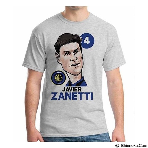 ORDINAL T-shirt Football Player Javier Zanetti Size M (Merchant) - Kaos Pria