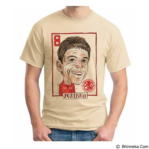 ORDINAL T-shirt Football Player Juninho Size ML (Merchant) - Kaos Pria