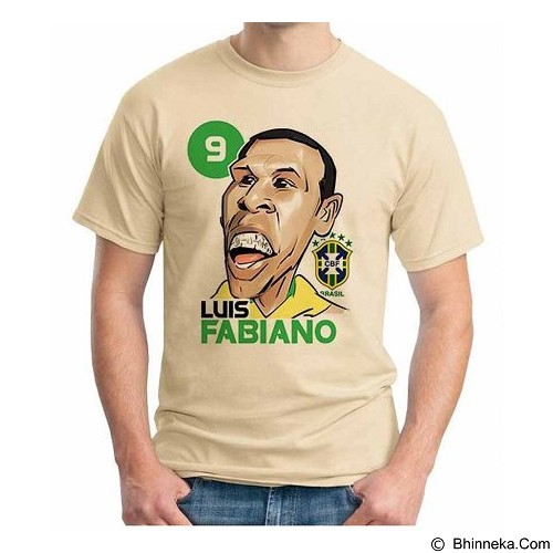 ORDINAL T-shirt Football Player Luis Fabiano Size ML (Merchant) - Kaos Pria