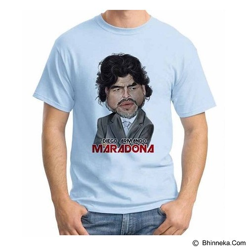 ORDINAL T-shirt Football Player Maradona 01 Size S (Merchant) - Kaos Pria