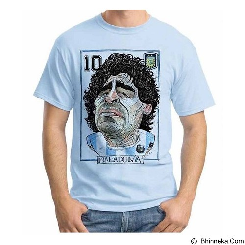 ORDINAL T-shirt Football Player Maradona 02 Size L (Merchant) - Kaos Pria