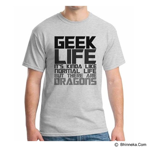 ORDINAL T-shirt Geek Life Size XL (Merchant) - Kaos Pria