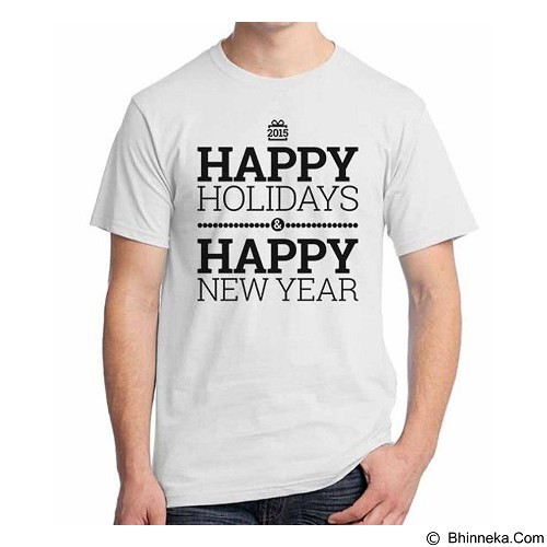 ORDINAL T-shirt Happy New Year 04 Size L (Merchant) - Kaos Pria