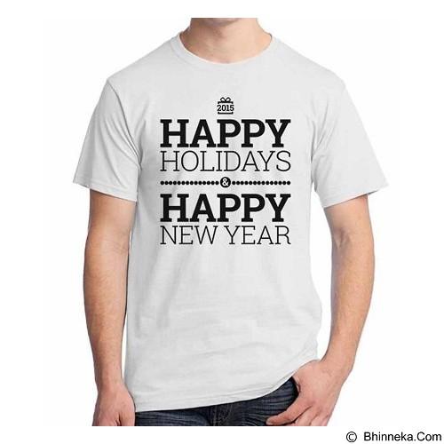 ORDINAL T-shirt Happy New Year 04 Size L (Merchant) - Kaos Pria