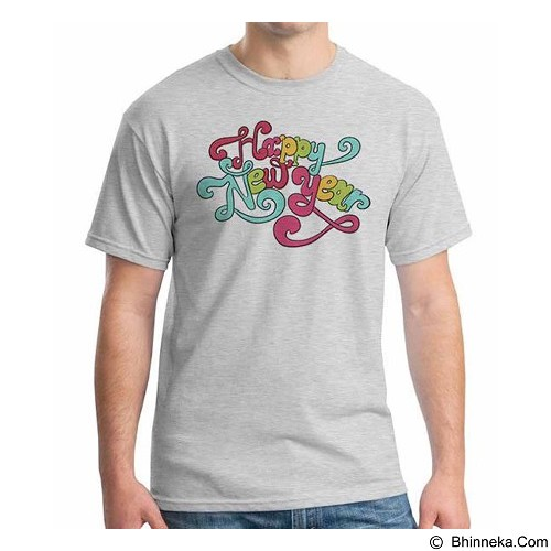 ORDINAL T-shirt Happy New Year 07 Size XL (Merchant) - Kaos Pria