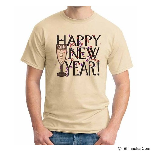 ORDINAL T-shirt Happy New Year 12 Size M (Merchant) - Kaos Pria