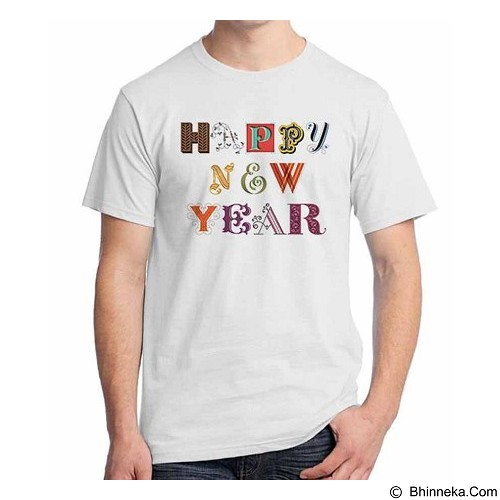 ORDINAL T-shirt Happy New Year 14 Size M (Merchant) - Kaos Pria