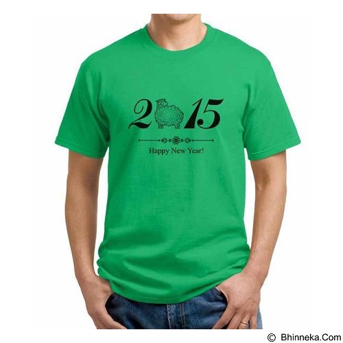 ORDINAL T-shirt Happy New Year 16 Size S (Merchant) - Kaos Pria