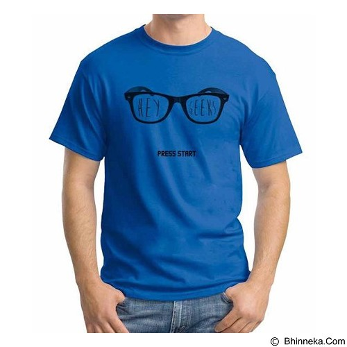 ORDINAL T-shirt Hey Geek Size L (Merchant) - Kaos Pria