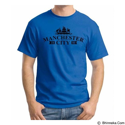 ORDINAL T-shirt Manchester City Edition 08 Size S (Merchant) - Kaos Pria