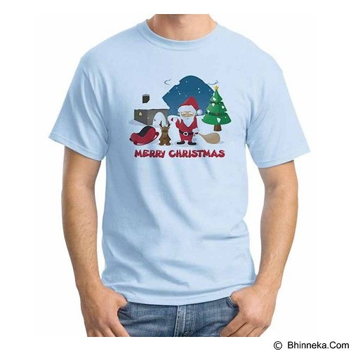 ORDINAL T-shirt Merry Christmas 07 Size ML (Merchant) - Kaos Pria
