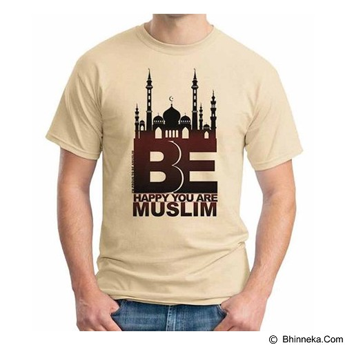 ORDINAL T-shirt Muslim Series Be Happy U Are Muslim Size M (Merchant) - Kaos Pria
