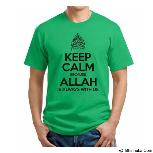 ORDINAL T-shirt Muslim Series Keep Calm To Allah Size L (Merchant) - Kaos Pria