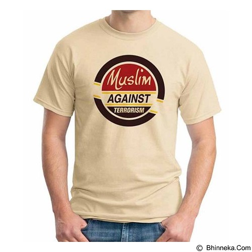 ORDINAL T-shirt Muslim Series Muslim Against Terrorism Size L (Merchant) - Kaos Pria