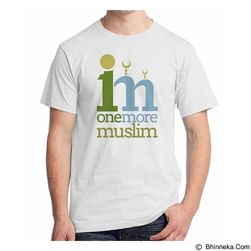 ORDINAL T-shirt Muslim Series One More Muslim Size L (Merchant) - Kaos Pria