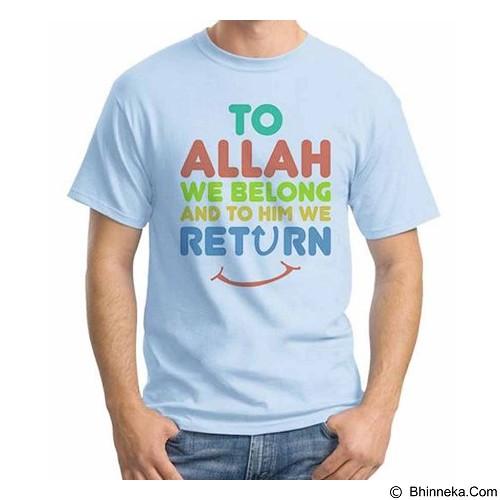 ORDINAL T-shirt Muslim Series To Allah We Return Size XL (Merchant) - Kaos Pria