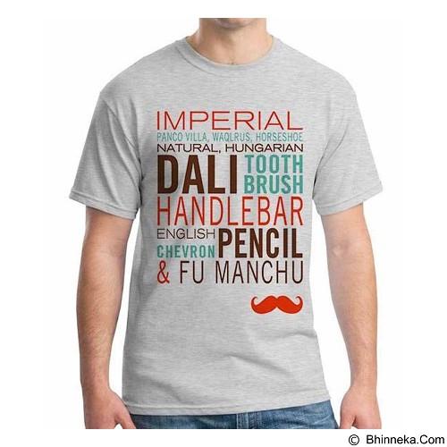 ORDINAL T-shirt Mustache 09 Size L (Merchant) - Kaos Pria
