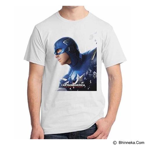 ORDINAL T-shirt New Captain America 05 Size S (Merchant) - Kaos Pria