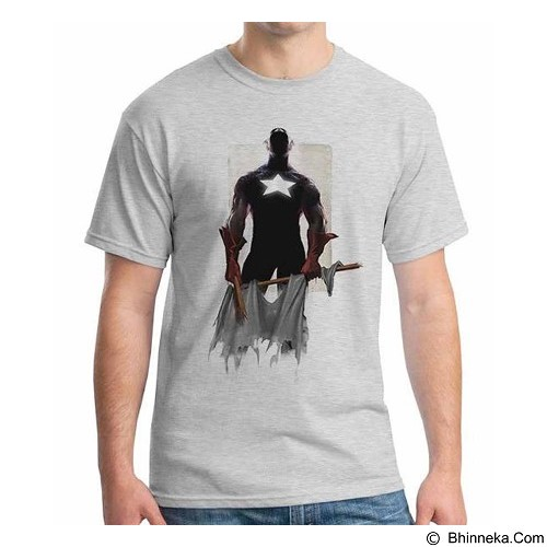 ORDINAL T-shirt New Captain America 06 Size S (Merchant) - Kaos Pria