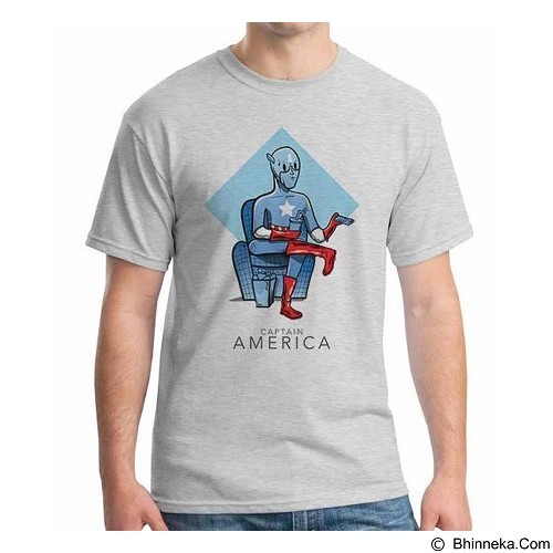 ORDINAL T-shirt New Captain America 07 Size ML (Merchant) - Kaos Pria