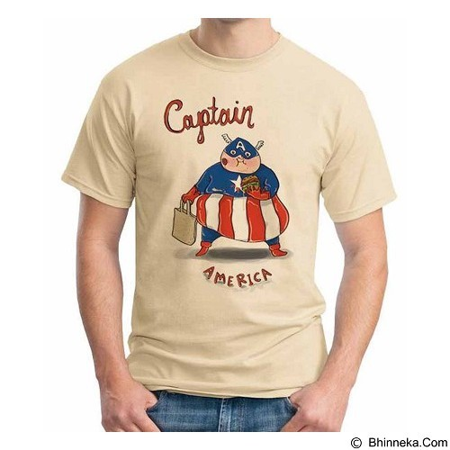 ORDINAL T-shirt New Captain America 09 Size XL (Merchant) - Kaos Pria