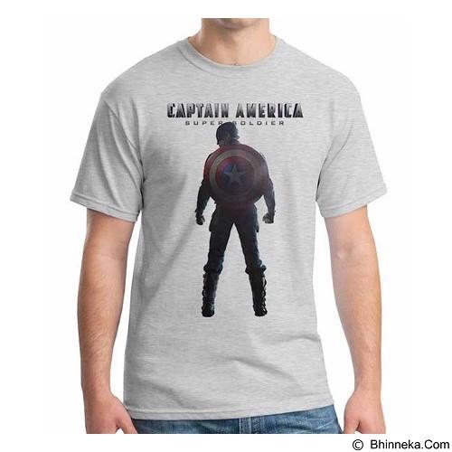ORDINAL T-shirt New Captain America 10 Size L (Merchant) - Kaos Pria