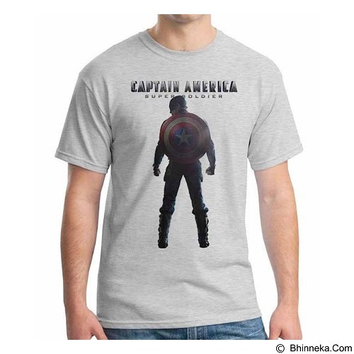 ORDINAL T-shirt New Captain America 10 Size M (Merchant) - Kaos Pria