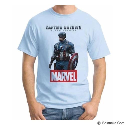 ORDINAL T-shirt New Captain America 14 Size XL (Merchant) - Kaos Pria