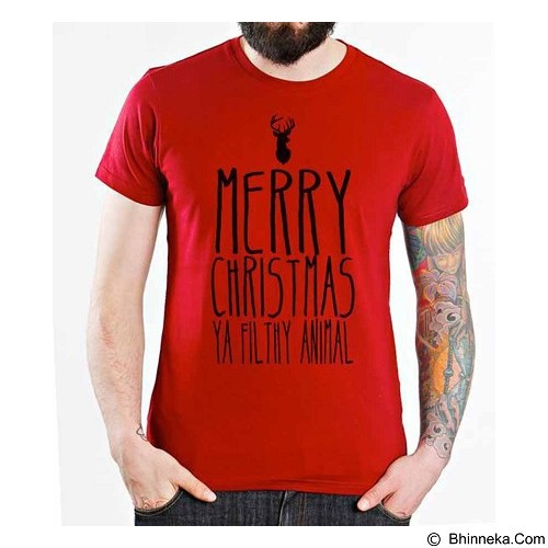 ORDINAL T-shirt Quotes Christmas 04 Size L (Merchant) - Kaos Pria