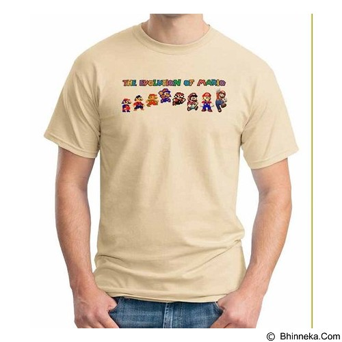 ORDINAL T-shirt The Evolution of Mario Size ML (Merchant) - Kaos Pria