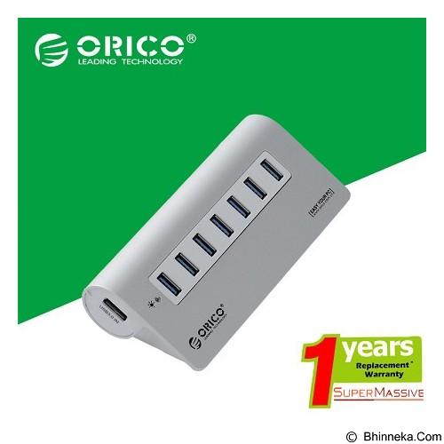 ORICO 7 Port USB 3.0 Hub [ORICO-M3H7-SILVER] - Silver - Cable / Connector Usb